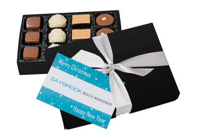 12 chocolate box with printed card