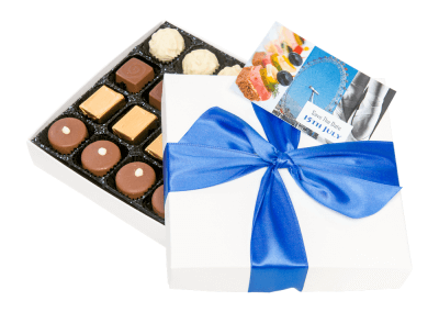 16 chocolate box with printed card