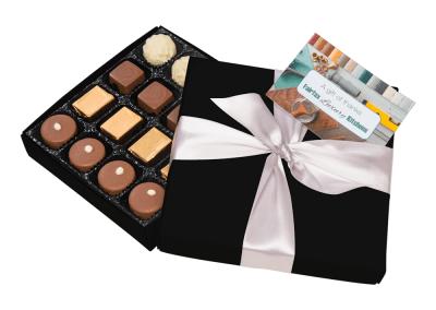 16 chocolate box with printed card
