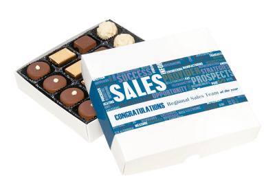 16 chocolate box with printed sleeve