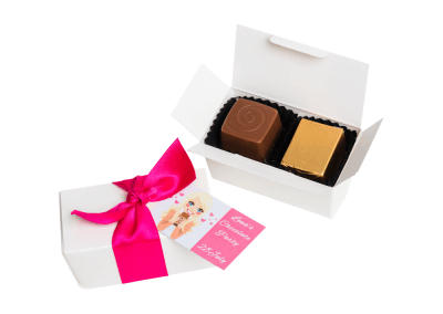 2 chocolate box with printed card