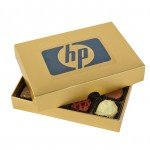 Personalised Chocolate Box With Transparent Printed Label