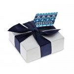 Chocolate box with personalised gift card