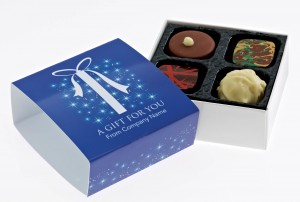 Premium Range Four Chocolate Box With Branded Sleeve