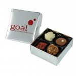 Personalised Chocolate Box With Logo On The Lid