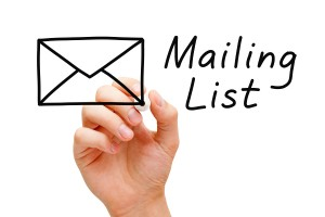 update your mailing list in time for Christmas