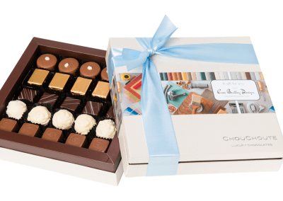 25 chocolate luxury box with printed sleeve