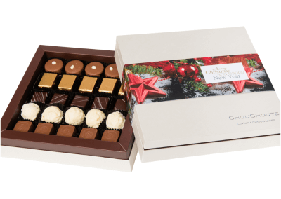 25 chocolate luxury box with printed sleeve2