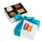 Personalised four-chocolate box