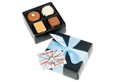 4 chocolate box with printed card