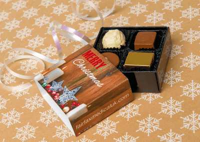 4 chocolate box with printed sleeve
