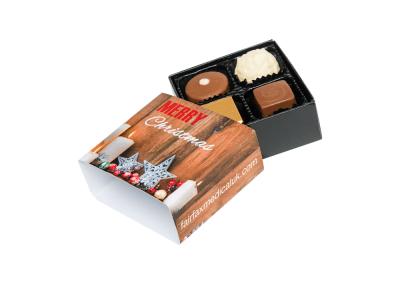 4 chocolate box with printed sleeve2