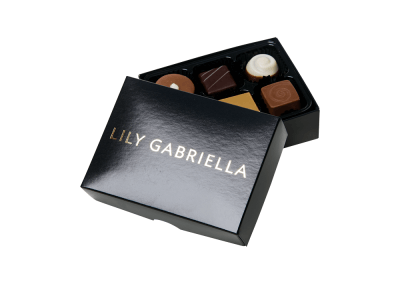 6 chocolate box printed on the lid