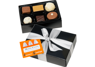 6 chocolate box with printed card