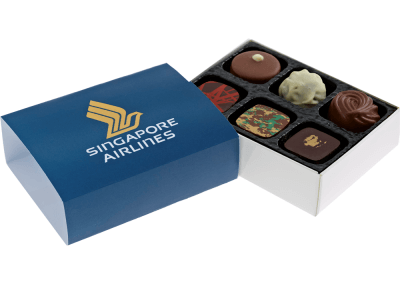 6 chocolate box with printed sleeve
