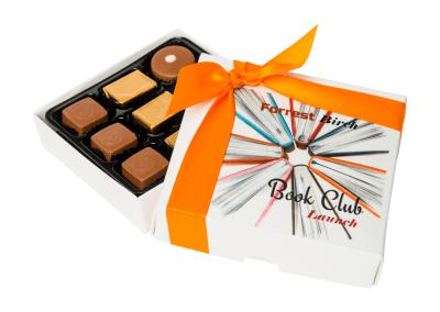 9 chocolate box printed on the lid