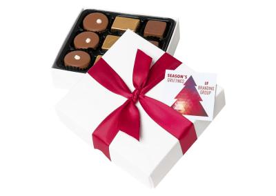 9 chocolate box with printed card