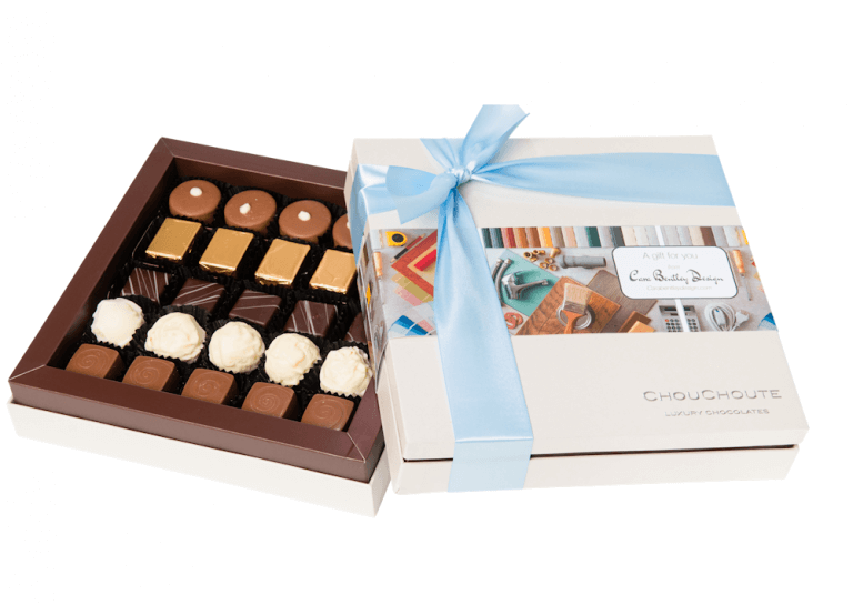 Luxury personalised 25 choc with printed sleeve
