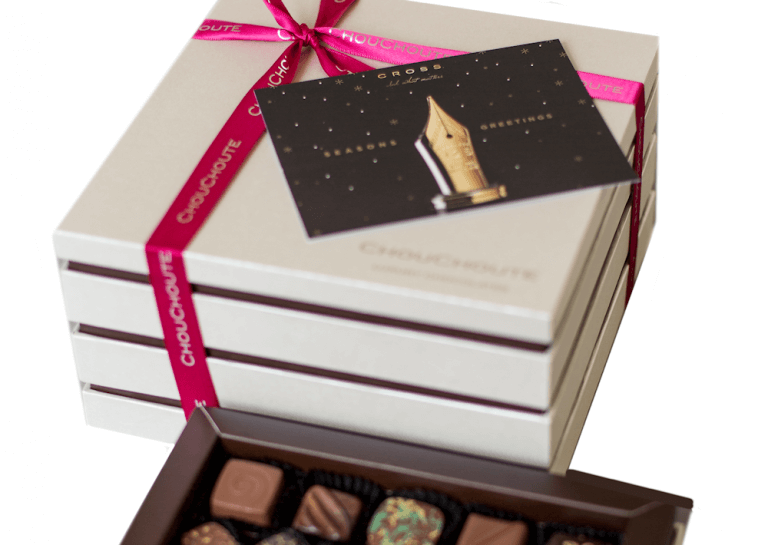 Luxury personalised 75 choc with card