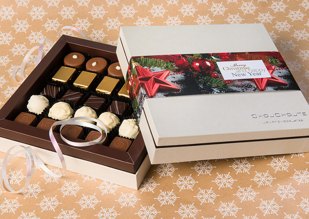 Chocolate Boxes with a Printed Gift Card